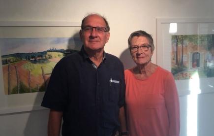 Heidi Thüring, bekannte Kunstmalerin in unserer Gegend, und ihr Ehegatte Rot. Heinz Thüring